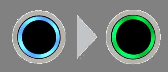 Bouton poussoir bicolore led bleu/vert sans contact 12/24v