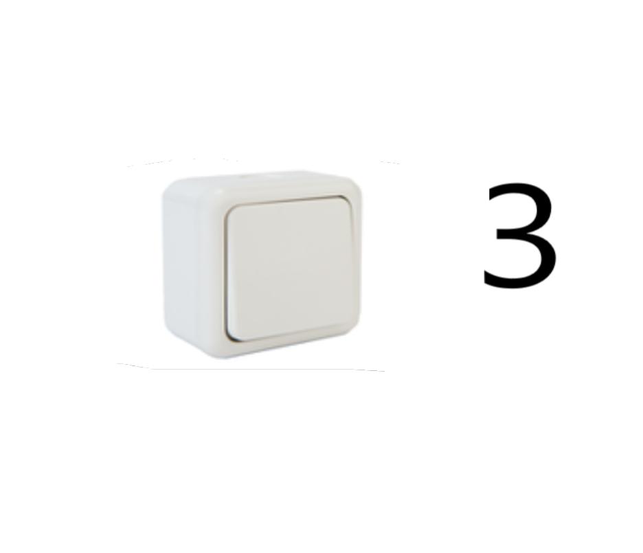 SW 015347 ip20 noir boutons poussoir en plastique Balance Astre Gira bouger astre 42 V étanchéité